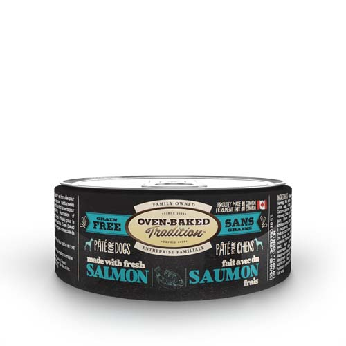 OBT Oven-Baked Tradition Pate SALMON adult dog 156g losos