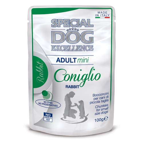 MONGE SPECIAL DOG EXCELLENCE MINI ADULT králik 100g kapsička