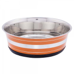 LES FILOUS Heavy Striped Bowls w/ Removable Rubber Ring, 1,90L, 21cm