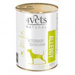 4Vets NATURAL VETERINARY EXCLUSIVE ALLERGY Lamb 400g dog
