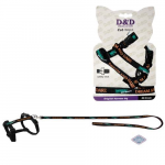 EBI D&D Cat-Walk 18-28cm/100cm S Original Harness black postroj s vodidlom