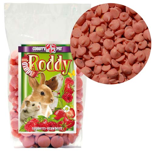 COBBYS PET RODDY DROPS Raspberry-straw. maliny+jahody 100g
