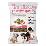 TropiDog Premium Junior Small & Medium 500g morka s ryžou